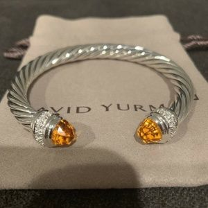 David Yurman Bracelet Citrine & Diamonds 7mm